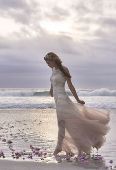 that feeling of falling in love captured through windswept tulle, rippled silk & the sea…the @BHLDN summer 2015 collection is here