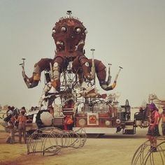 Mister fabulous Octopus #burningman #nevada