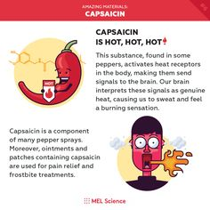 Capsaicin is hot, hot, hot! Element Chemistry, Study Chemistry, Chemistry Lessons, Chemistry Experiments, Subscriptions For Kids, After School Club, School Clubs, Science Facts, Science For Kids