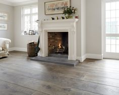 This lovely patina creation on engineered oak floor board is from our Tailor Made Patina range and is one of our darkest colours. As with most of these high end finishes, the true