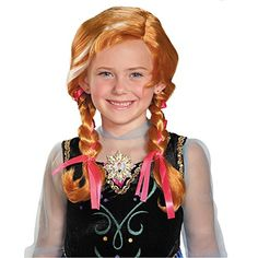 Frozen Anna Child Wig -- For more information, visit image link. (This is an affiliate link) #WigsDressUpToys