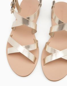 At Stradivarius you'll find 1 Gold sandals for woman for just 69  GEL . Visit now to discover this and more ALL.