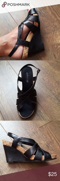 Aerosoles brand new black sandals Aerosoles black sandals. Like new condition.  Never wore. Super cute and stylish.  Make me an offer. AEROSOLES Shoes Sandals