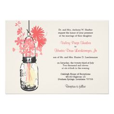DealsWild flowers & Mason Jar Wedding InvitationsThis site is will advise you where to buy
