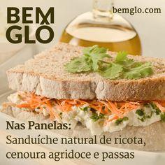 Vem com a gente e aprenda a preparar um sanduíche saudável e pra lá de gostoso, vem! #bemglo #naspanelas #sanduichetudodebemglo