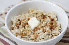 The Old School  Top your oats with brown sugar, a pat of butter and a sprinkle of salt. #BRMOatmeal