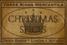 Christmas Spices Label