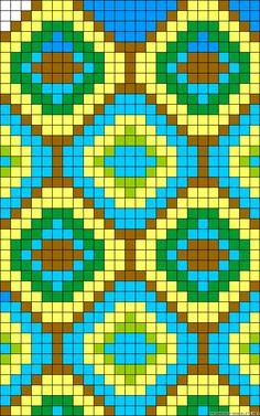 Grid diamonds design perler bead pattern