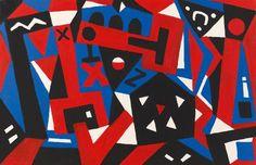 """AR (Ralf Winkler) Penck: """"Lärm des Tages"""" aus unserer Rubrik: Zeitgenössische Gemälde, Zeichnungen, Aquarelle"""