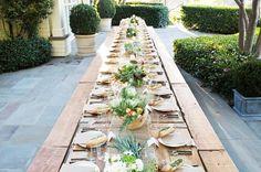 Inside Jenni Kayne's Rustic Alfresco Fall Dinner Party via @mydomaine