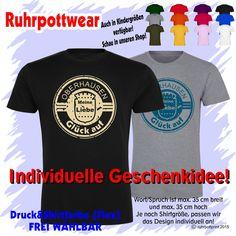 T-Shirt  Oberhausen Glück auf  individuell gestaltbar mit Flexdruck Ruhrpott