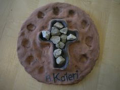 Link in spanish.....Catholic Family: Rosary inspired Kateri Tekakwitha: salt dough rosary with stones for counting prayers