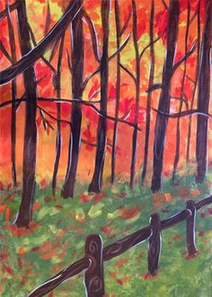 """""""Fall Forest"""" Paint the perfect party at www.GalleryOnTheGo.com!  #GOTGFun #ArtOfSocializing"""