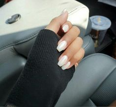 Pearl white nails - Opi dont touch my tutu