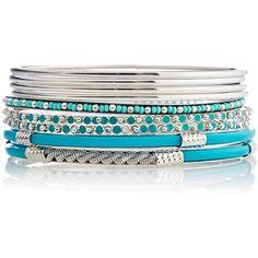 9 Piece Beaded Bangle Set-XL Bracelets ❤ liked on Polyvore featuring jewelry, bracelets, bangle bracelet set, stackable bangles, bracelet bangle, stackable bracelet et bracelet jewelry