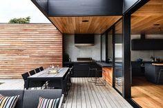 backyard design – Gardening Tips Outdoor Rooms, Outdoor Living, Future House, Rooftop Terrace Design, Design Exterior, Backyard Patio Designs, Outdoor Kitchen Design, Modern House Design, Architecture Design