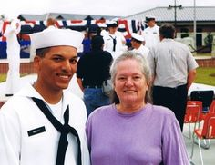 Annie and her son, Sami, who served on a submarine in the Navy.
