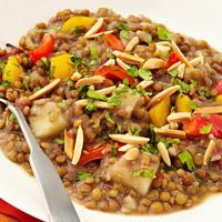 Garam Masala Lentils & Potatoes Recipe. PS-Lentils are high in protein ...