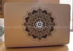My current craving; Flowerdecal macbook Macbook Decal Pro/Air Sticker by Qskin on Etsy