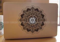 Flower-decal macbook Macbook Decal Pro/Air Sticker Handmade Skin Partial Protector MacBook decal MacBook pro sticker