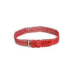 NOVICA Soda pop-top belt, 'Crimson Chain Mail' Wow this interesting!
