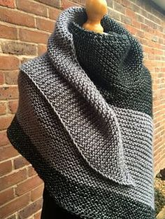 Ravelry: Cosy Colourblock Shawl pattern by Sarah Knight - Crafts from the Cwtch