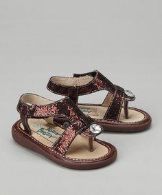 Look at this #zulilyfind! Itzy Bitzy Brown Tessa Squeaker Sandal by Itzy Bitzy #zulilyfinds