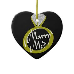 Engagement Ring Marry Me Christmas Tree Ornaments