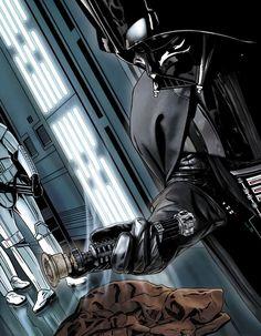 "lordwanjavi: "" Más ilustraciones de ""Star Wars"" > Joe Corroney "" the one with Anakin & Shmi…heartbreaking…"