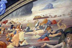 Bronzino,The crossing of the Red Sea, (1540- 1545),fresco,300х475 mm,Palazzo Vecchio Museum Level Second floor,room Chapel of Eleonora of Toledo.detail.