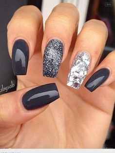"""If you're unfamiliar with nail trends and you hear the words """"coffin nails,"""" what comes to mind? It's not nails with coffins drawn on them. It's long nails with a square tip, and the look has. Fancy Nails, Love Nails, Trendy Nails, Classy Nails, Fabulous Nails, Gorgeous Nails, Amazing Nails, Perfect Nails, Amazing Art"""