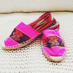 bright pink espadrilles