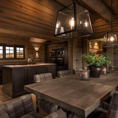 See photos and videos from hashtag. Cabin Homes, Log Homes, Log Home Kitchens, Log Home Interiors, Cabin Chic, Welcome To My House, Beautiful Houses Interior, Lodge Style, House Rooms
