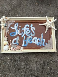 Items similar to Life's a beach' nautical bathroom wall decor on Etsy Bathroom Wall Decor, Bathroom Ideas, Fancy Dress Theme Ideas, Bed Heads, Nautical Bathrooms, Summer Crafts, Remodeling, Beach House, Picture Frames