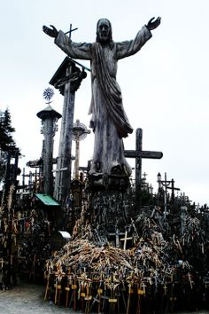 Hill of Crosses - Meskuiciu, Lithuania The nearby city was...