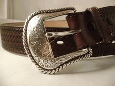 Basket Weave Belt in Black or Brown