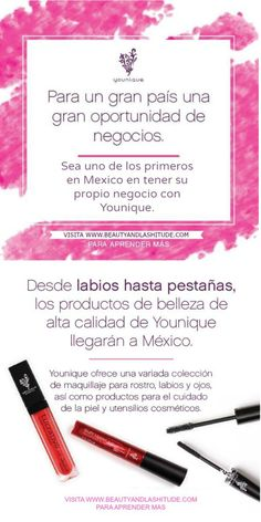 For a great country, a great business opportunity. Be one of the first in Mexico to own your own Younique business. #Mexico #workfromhome #rimel #trabajardesdecasa #businessopportunity #wahm #sahm #ventasdirectas