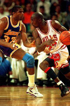 Magic Johnson & Michael Jordan