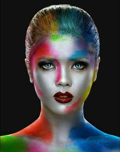 - Ina Face Paint by Erich Caparas Face Painting Supplies, Art Visage, Extreme Makeup, Fantasy Make Up, Foto Fashion, Make Up Art, Special Effects Makeup, Creative Makeup, Fun Makeup