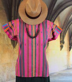 Green & Pink Huipil, Mayan Chiapas Mexico Pantelho Hippie Boho, Santa Fe Cowgirl #Handmade #HuipiltunicHuipil