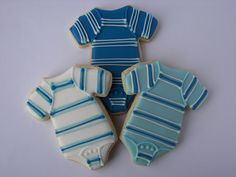 Cute cookies for a baby boy themed baby shower!