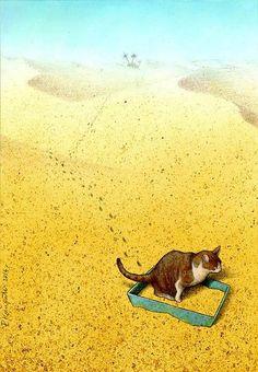 """I nearly wet my pants!!"" Illustration by Pawel Kuczynski"
