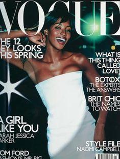 Naomi Campbell British Vogue February 2001