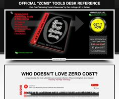 "WHO DOESN'T LOVE ZERO COST? This ""Tools Desk Reference"" is unquestionably, the most authoritative pre-screened collection of free marketing tools ever released. 100% Zero-Cost. (Featuring: Flip-Page Technology)."