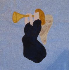 Free Quilt Pattern: Angel With Trumpet
