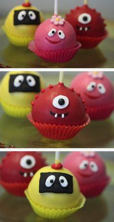 Monster Cake Pops party-planning