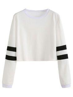 5d51cbf774651 Sudadera Cropped White Shirt