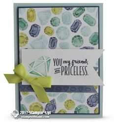 CARD: Gorgeous Priceless Gem of a Friend Card | Stampin Up Demonstrator - Tami White - Stamp With Tami Crafting and Card-Making Stampin Up blog