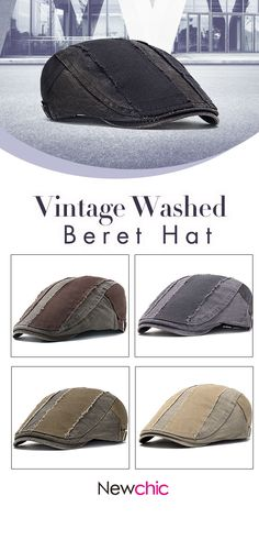 2 for US 21.40 Mens Vintage Washed Casual Newsboy Beret Cap  mensfashion   02a14d721245d