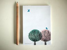 willow notepad A6 100 ECO by SiebenMorgen by SiebenMorgen